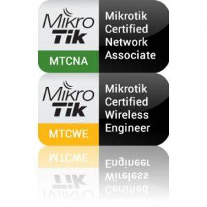 MikroTik MTCNA i MTCWE logo